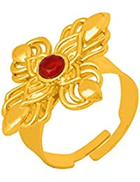 Voylla Traditional Alloy With Yellow Gold Plated Faux Stone Rings For Women - B077971K5G