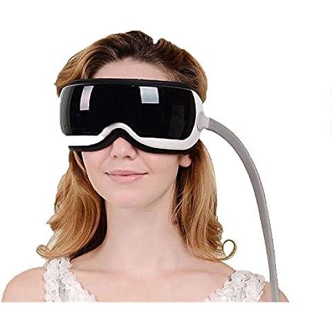 Denshine Ojo y Templo masaje gafas relajantes con almacenamiento de MP3 Masaje Electrónico Magnético Mejora la circulación sanguínea y el suministro de oxígeno