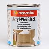 Original NOVATIC Marken Acryl-Weisslack - 2,5 l weiss
