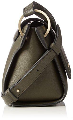 Calvin Klein - Iren3 Flap Crossbody, Borse a tracolla Donna Verde (Black Olive)