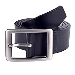 Lino Perros Mens Leather Belt (8903421295272_LMBE00278_Free Size_Black)