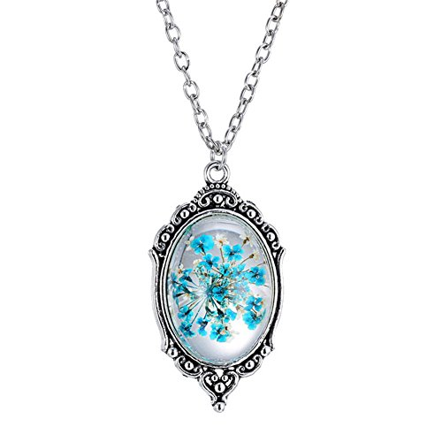 pmtier-femmes-cru-oval-presse-fleur-pendentif-epoxy-gemme-collier-21-inch-chaine-bleu