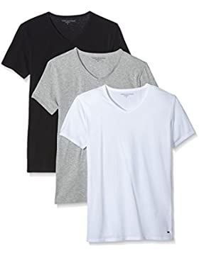 Tommy Hilfiger Herren T-Shirt V-neck T-shirt Ss 3 Pack Premium Essentials