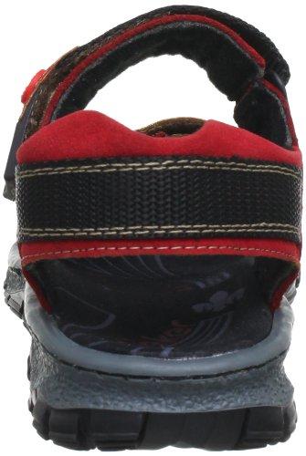 Rieker Damen 68851 Offene Sandalen mit Keilabsatz Rot (fire/rosso / 33)