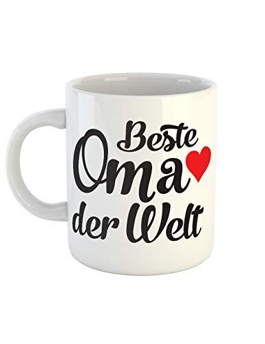 clothinx Kaffeetasse mit Aufdruck Beste Oma Der -