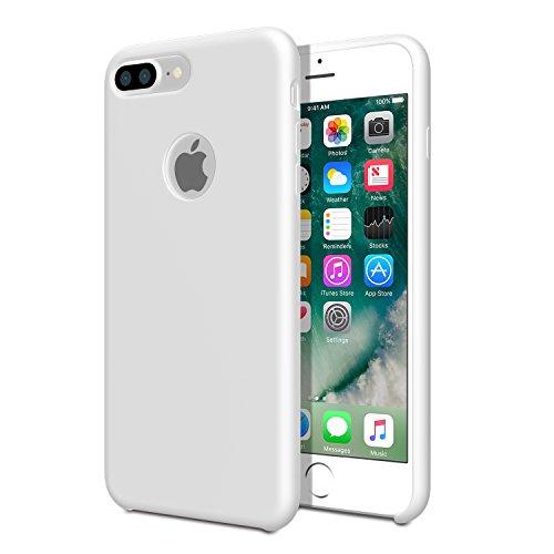 Moko case per iphone 7 plus - cover protettiva leggera di silicone flessibile paraurti resistente, retro copertura morbida per apple iphone 7 plus 5.5