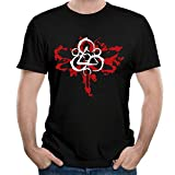 Purpubble Mens Coheed and Cambria Men's Graphic Cool Outdoor Black Short Sleeve T-Shirts