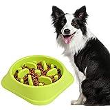 Belking Anti Schling Hundenapf, Langsam Essen Schüssel, Interaktive schüssel, Rutschfest Fütterung Schüssel, Hundenapf/Katzennapf - Grün
