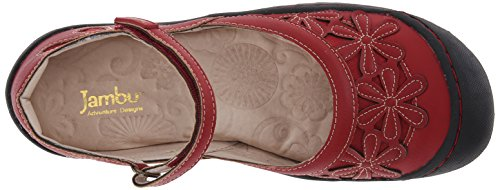 Jambu Rosetta Femmes Synthétique Mary Janes red