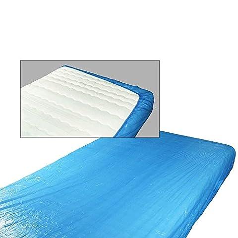 Mattress Protector CPE Set of 10Elasticated Top Comfort Blue 210x 90x 20cm Mattress Cover Protector Accepts Standard Mattress 200x 90cm by TOP Marques