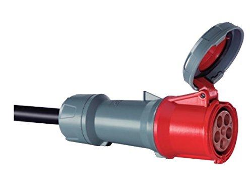 Mennekes 101300041Prolongadores Power top Plus prese CEE 400V 50 60Hz 125a 4pin IP 67gradi protezione rosso