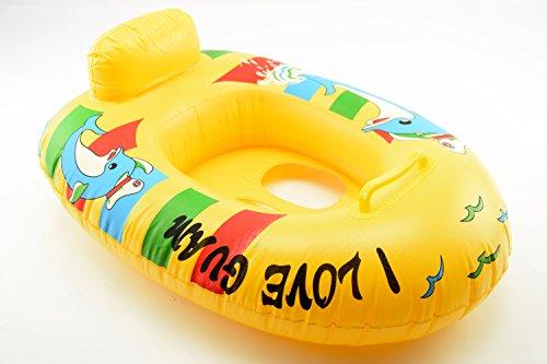 OKCS Gummiboot für Kinder Schlauchboot Pool Schwimmen Strandboot Junior Schwimmbad Badespaß - in Gelb