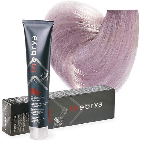Inebrya Color 10/02 rubio claro púrpura pastel 100 ml: Amazon ...