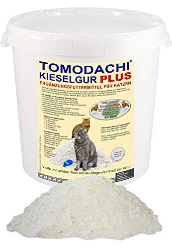 Tomodachi Kieselerde Plus Biotin für Katzen, Naturprodukt, Siliziumkur für Haut und Haar, Stoffwechsel, Verdauung, reich an Silizium, glänzendes Fell, Knochen, Zähne, Sehnen, Krallen, 500ml