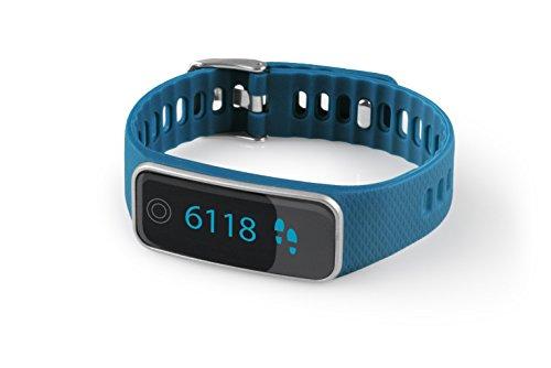 99ca3df3f48749 Medisana ViFit touch Aktivitätstracker 79488 mit App, Fitnessarmband mit  Pulsuhr und Schlafanalyse, blau