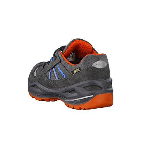 Lowa Simon Ii Gtx Lo, Chaussures de Randonnée Mixte Enfant Gris (Graphit/orange)