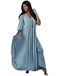 LOTUSTRADERS Damen Lagenlook Maxi Kleid