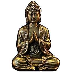 Zen Light Bouddha Méditation Or Statuette Décorative, Résine, Taille Unique