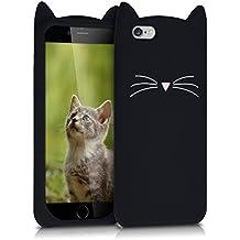 kwmobile FUNDA DE SILICONA Diseño gato para Apple iPhone 6 / 6S - Un diseño elegante y una protección óptima