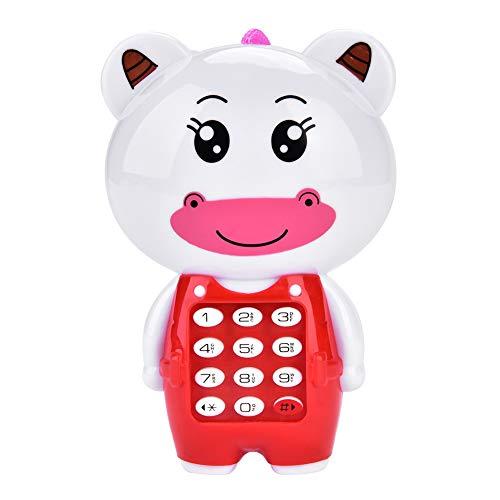 Kinder Musik Handy Spielzeug, Cartoon Tier Telefon Lernspielzeug für Kinder ab 3 Jahre(Kalb)