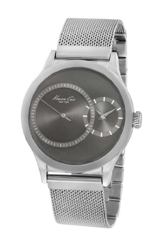 Kenneth Cole Men's Quartz Watch with Grey Dial Analogue Display and Grey Stainless Steel Bracelet KC9175