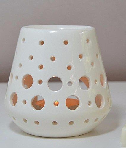 Aromalampe Duftlampe Loob aus Keramik weiß 9 cm