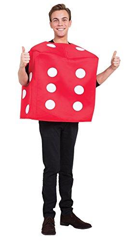 Bristol Novelty AF024 Pokerwürfel Kostüm, Rot