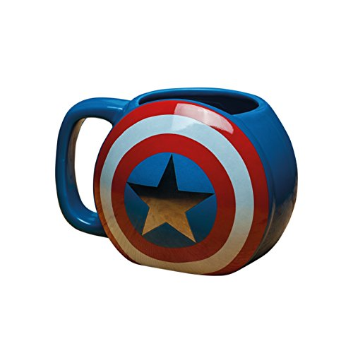 Marvel Avengers Captain America Shield Tasse, Keramik, Mehrfarbig, 10 x 13 x 9 cm (Weihnachten America Captain)