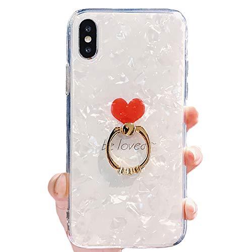 Schwarz Lemon Fall kompatibel für iPhone Luxus Bling Glitzer Weich Silikon Gel Gummi Beauty glänzend Sparkling Cute Schutzhülle Cover Case für Mädchen mit Ring Ständer Halter iPhone X weiß -