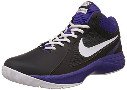 Nike 637382-014 Men S Overplay Viii Black Purple And White Basketball Shoes  637382 014 6 Uk- Price in India
