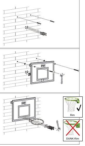 EXIT Galaxy Board+Ring+Netz 46.40.20.00 / Basketballrückwand mit Basketballkorb (Ring mit Netz) / Polycarbonat+Metall / 116 x 77 cm / 13,1 kg -