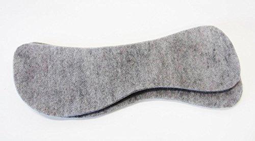 1 Paar Wollfilz - Einlagen für Sattelunterlagen oder Pad in Standardform Größe 1 cm Dicke