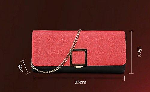 TaoMi Homw- Handtaschen-Frauen-Handtaschen-Mädchen-Handtasche Art und Weise Großes Kapazitäts-Faltblatt Bankett-Abendessen-Partei / mit Schulter-Bügel Schwarz