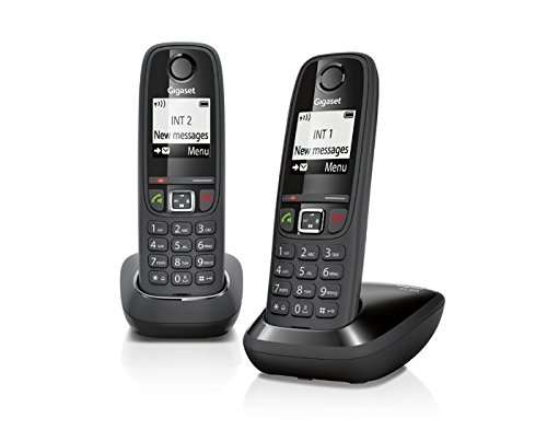 Gigaset AS 405 Duo Telefono Cordless, Nero