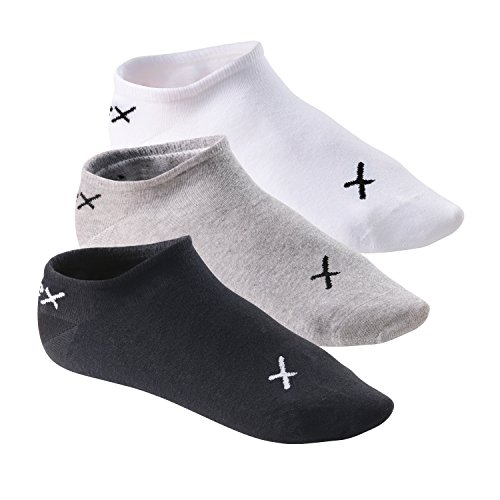 CFLEX 6 Paar LIFESTYLE Invisible Sneaker Socks Black/Grey/White-43-46 -
