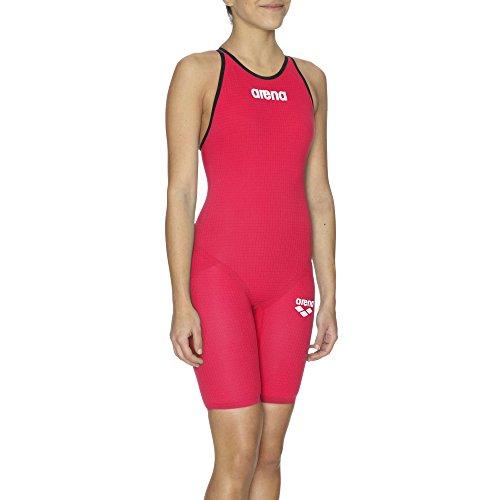 Arena W Pwsk Carbon Pro Mk2 Fbslc Bañador 1 Pieza, Mujer, Rojo (Bright Red), 30