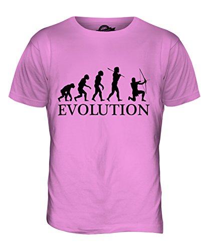 CandyMix Bogenschießen Bogenschütze Evolution Des Menschen Herren T Shirt Rosa