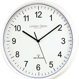 london clock co 36032 funk wanduhr moderne wei e wanduhr 28 cm. Black Bedroom Furniture Sets. Home Design Ideas