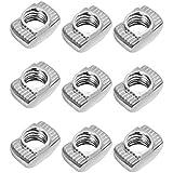 Yardwe BESTOMZ T-Nut Extrusiones de Aluminio Europeas Slim T-Nut M4 Hilo Paquete de 50 (M4x10x6)