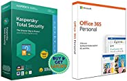 Kaspersky Total Security - 1 User, 1 Year (CD)&Microsoft Office 365 Personal for 1 user (Windows/Mac), 12