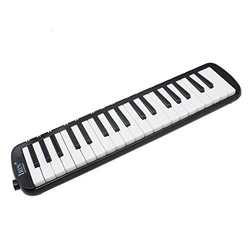 XMAGG Melodica 32 o 37 Tasti Pianica Stile Piano Tastiera Armonica con Boccaglio Panno di Pulizia Custodia per Principianti Bambini Musicale,Black,37