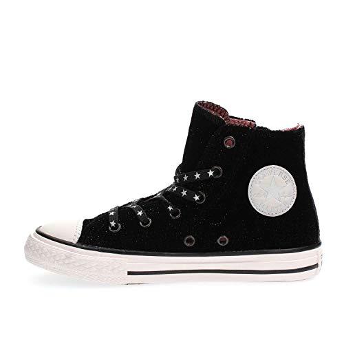 Converse Unisex-Kinder Chuck Taylor CTAS Side Zip Hi Sneakers Mehrfarbig (Black/White/Rust Pink 001) 35 EU -