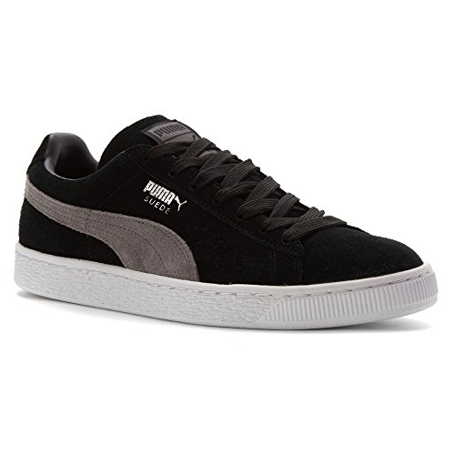 Puma Suede Classic + Herren Sneakers Black-steel Gray-Puma silver