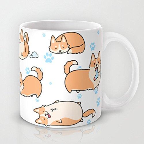Image of I love Corgis Hot Coffee Mug 11 Oz.Funny Geramic Mug
