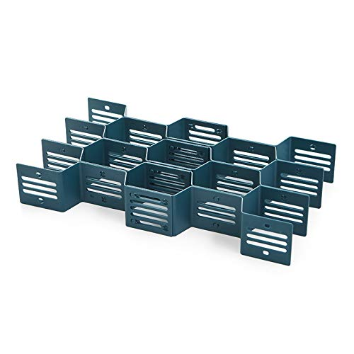 XINJIA Schubladen-Organizer, 12 Trennwände mit Wabenwabenmuster, für Socken, Unterwäsche, Kunststoff