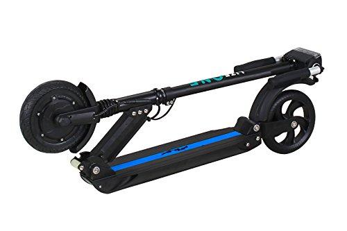 eFlux Elektroroller Scooter - 500 Watt Motor - Bis 30 km/h - 30 Km Reichweite - Nur 10,8 Kg leicht - Klappbar - E-Scooter (Lite One Schwarz Blau)
