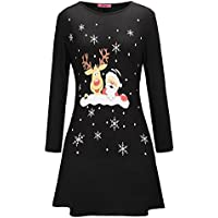 Kleid Damen Minikleid Weihnachten Outfit Lang Heiligabend Kleidung linqi1164 Weihnachtspullover Herbst Winter Pullover Knielang Festliche Weihnachtskleider Frauen Sweatshirts Partykleid Tops Bluse