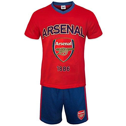 Arsenal FC - Herren Schlafanzug-Shorty - Offizielles Merchandise - Geschenk für Fußballfans - XL
