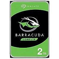 """Seagate BarraCuda, 2 TB, Disco duro interno, HDD, 3,5"""" SATA 6 Gb/s, 7200 r.p.m., 64 MB, caché para ordenador de sobremesa y PC, Paquete Abre-fácil (ST2000DMZ08)"""