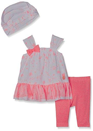 3 pommes Baby-Mädchen Unterwäsche-Set Full Summer, Rose (Tropical Pink), 9-12 Monate